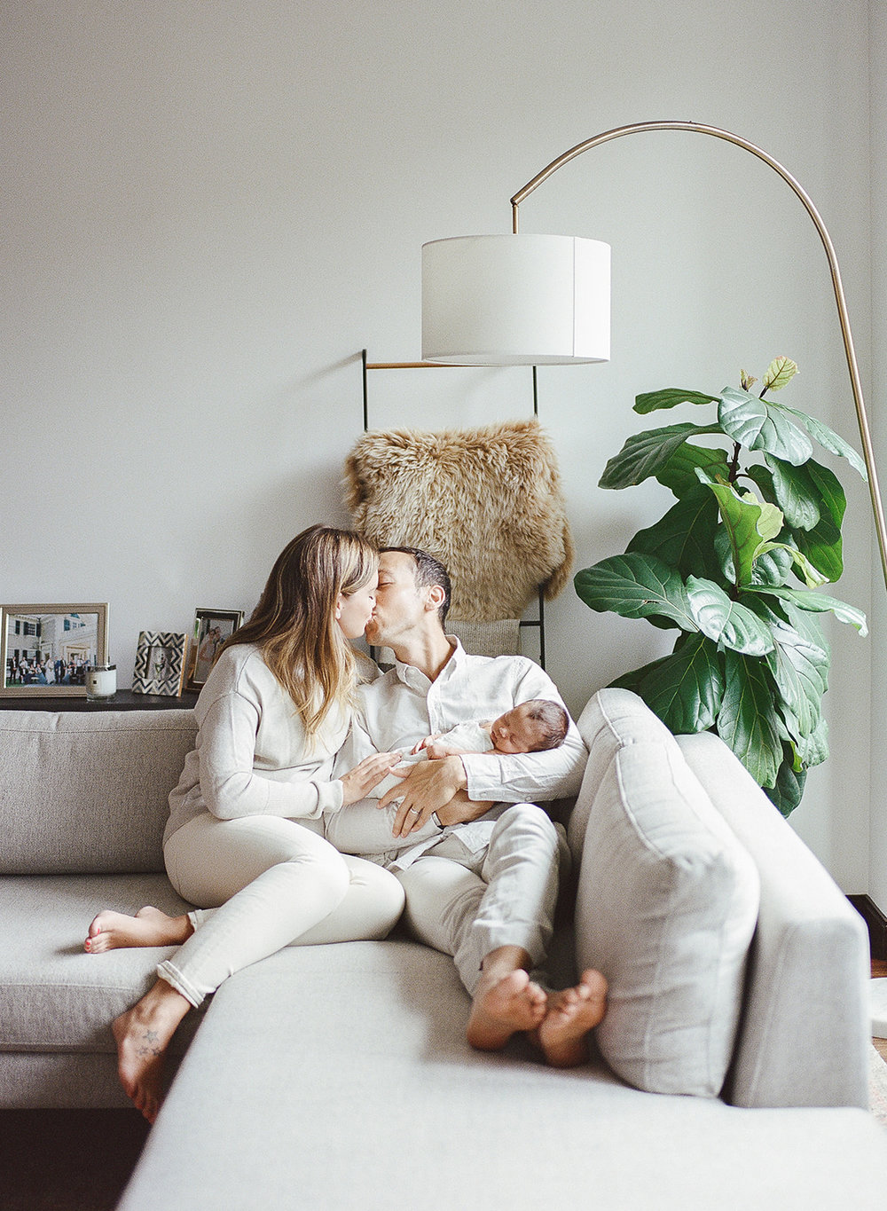 NYC Newborn Photographer with West Elm Style