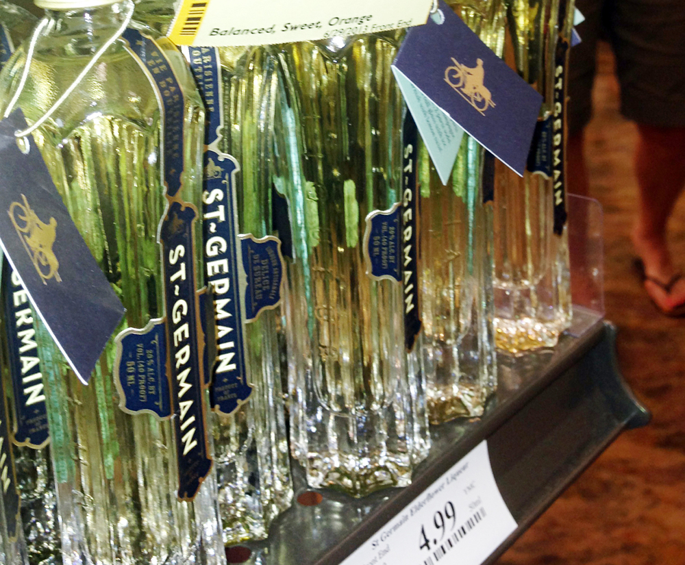Mini bottles of St. Germaine at Total Wine and More
