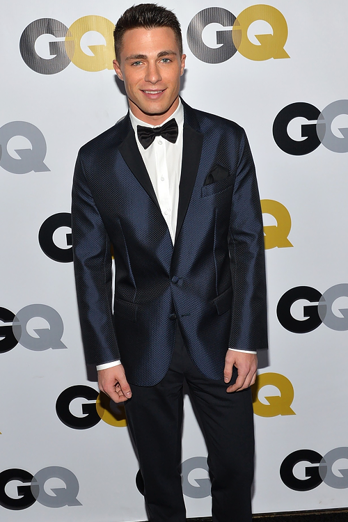 Candid of Colton at GQ's 2013 Man of the Year party.
