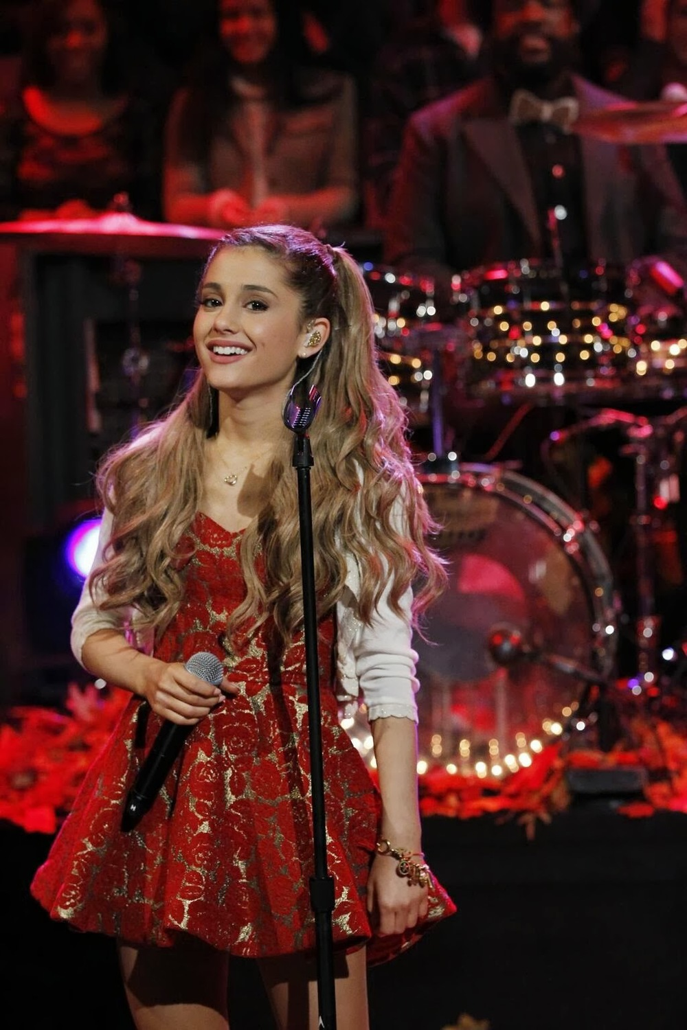Ariana performing on Jimmy Kimmel Live.