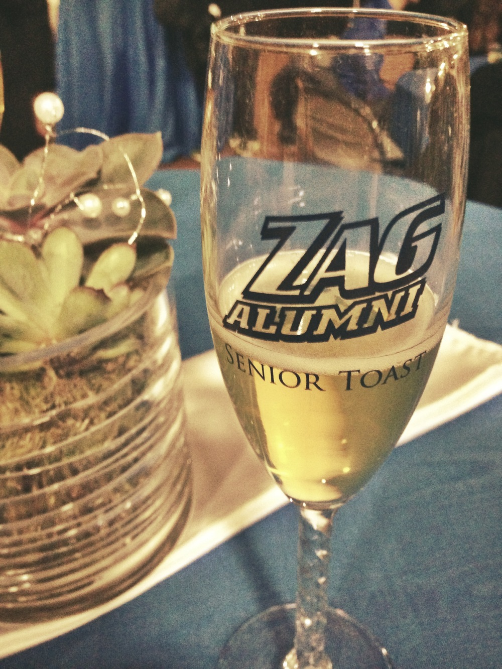 "A glass of cider at Gonzaga's ""Champagne Brunch"""