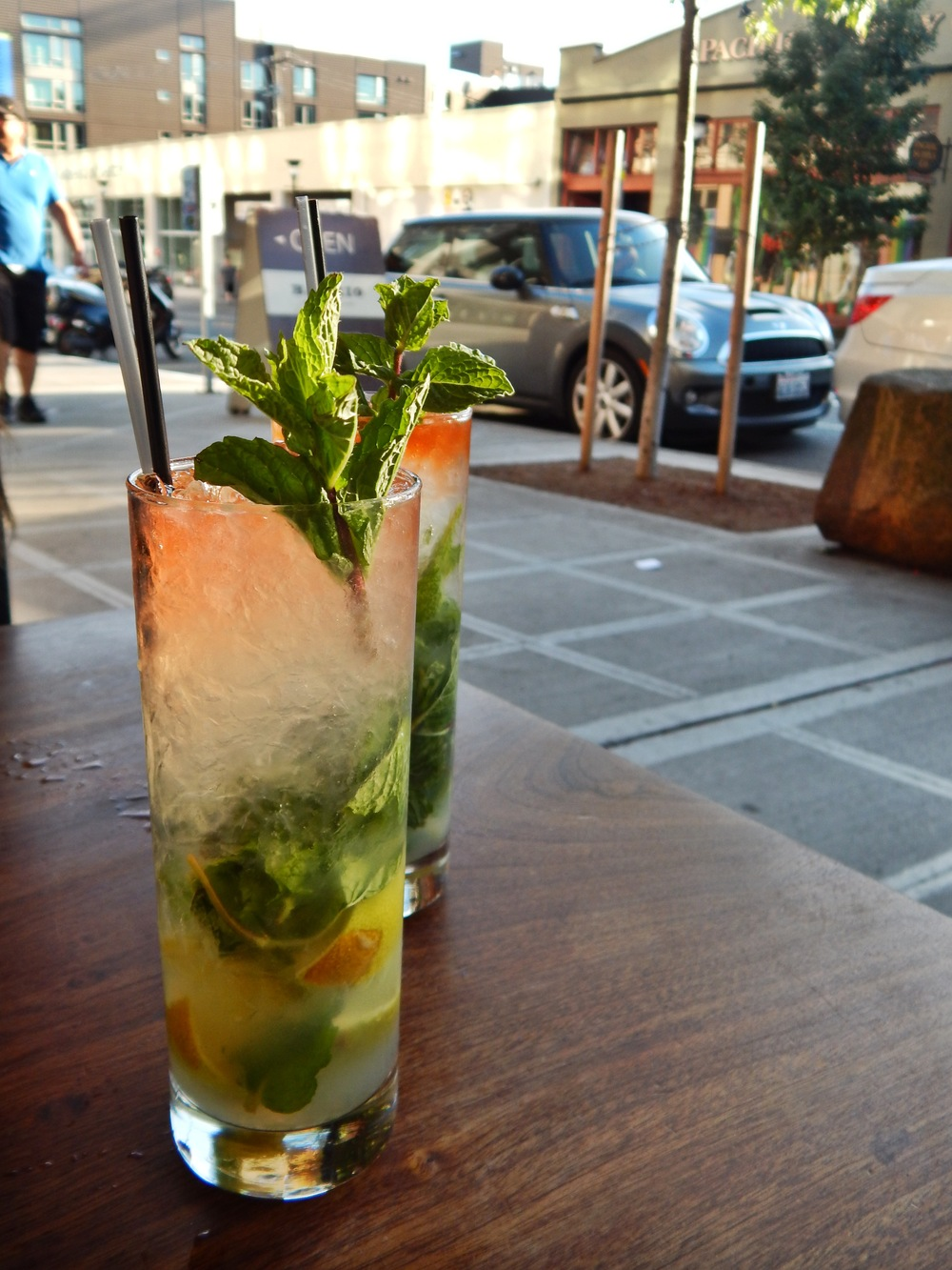 A mojito with Shaun at Barrio in Capitol Hill, Seattle.