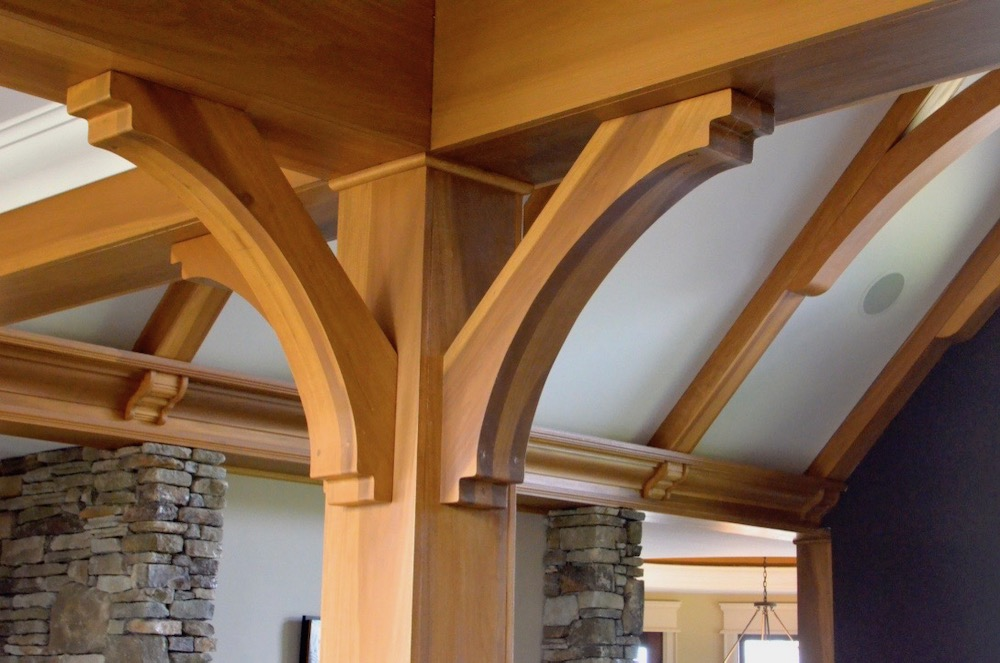decorative column brackets stain poplar beams.jpeg