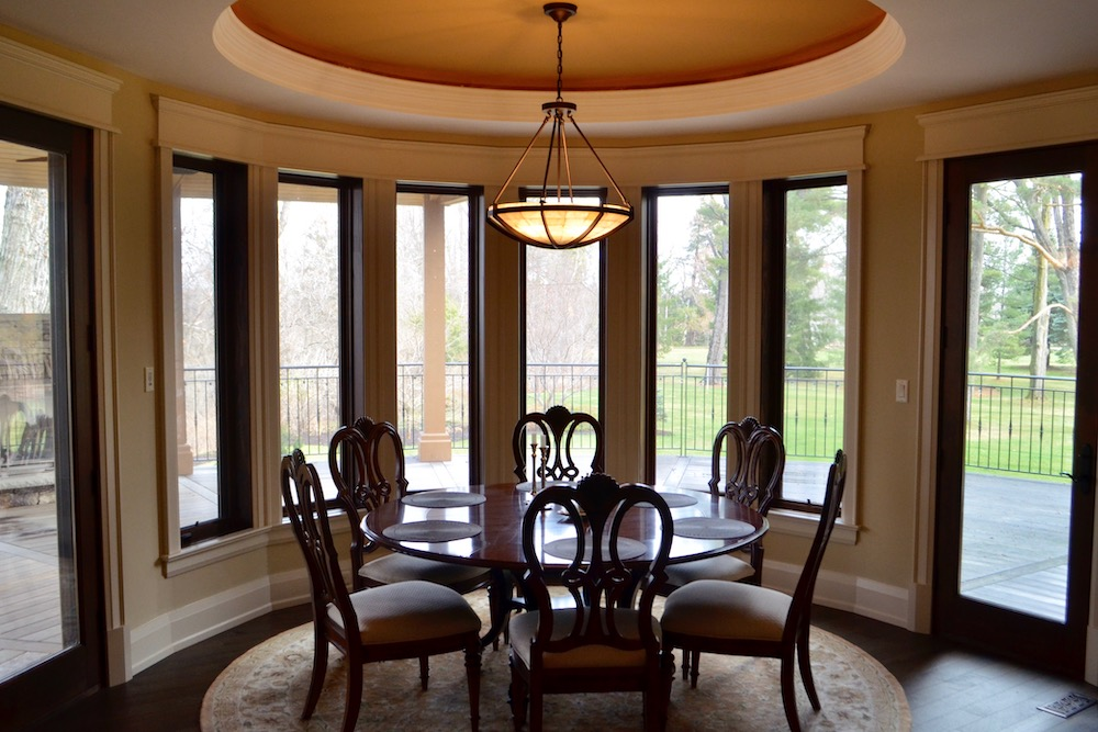 dining room circular ceiling round custom home.jpeg