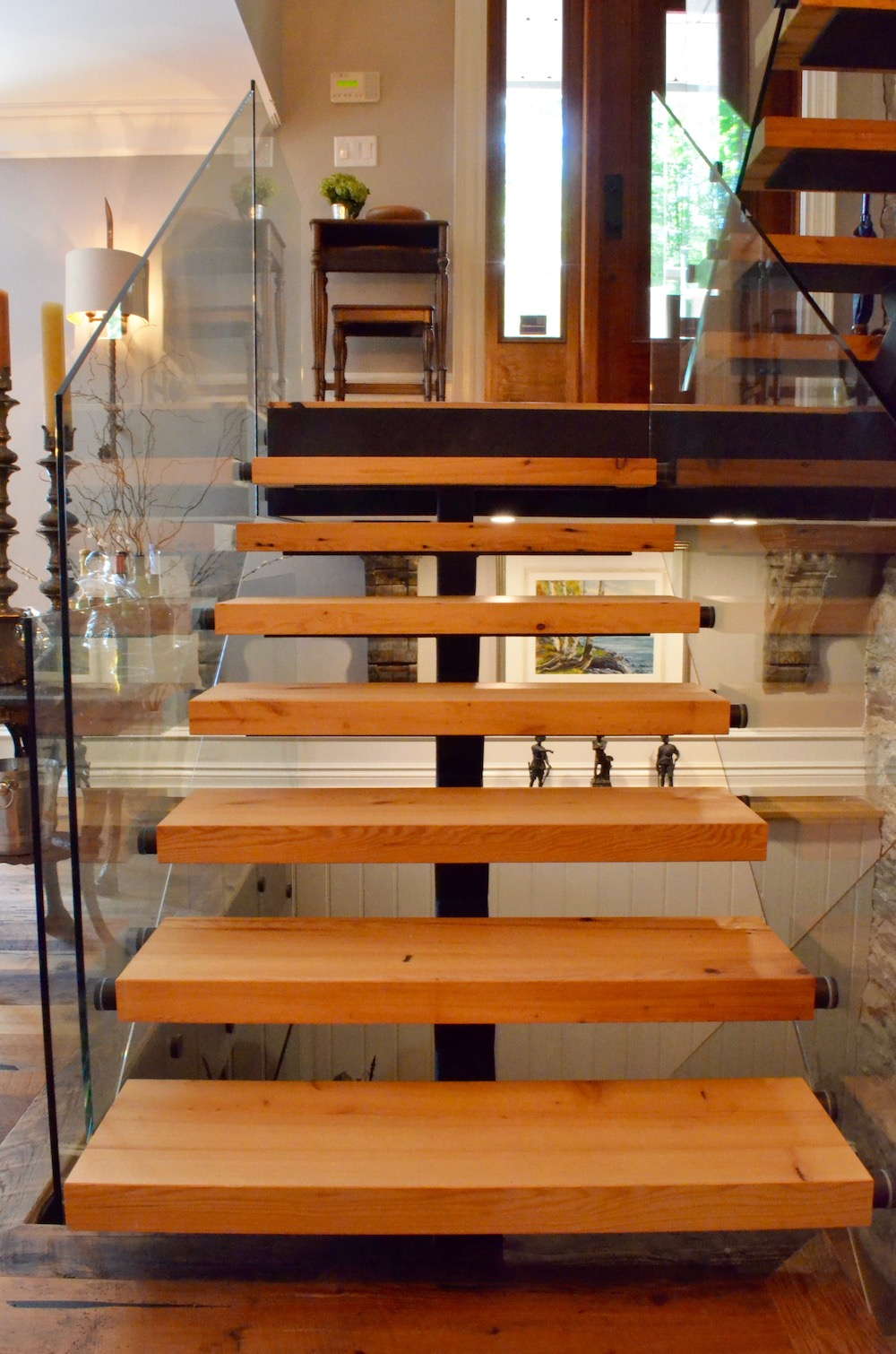 glass railing steel stair timber tread open riser.jpeg