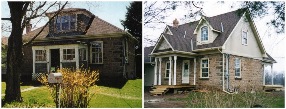 Before and after stone farmhouse 2nd storey addition.jpg