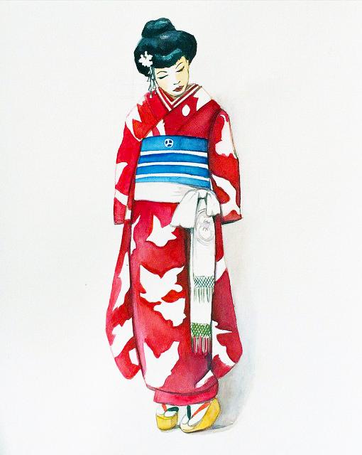 Kimono, 2015, Watercolour