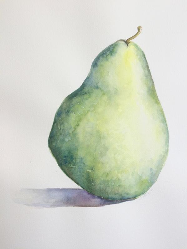 Pear, 2016, Watercolour