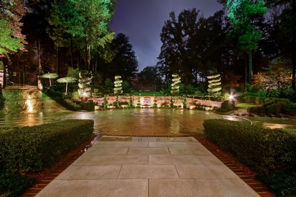 front drive and west gardens night.jpg
