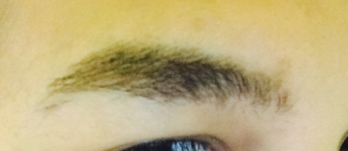 Eyebrow without any product