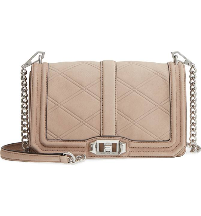 Rebecca Minkoff 'Love' Tooled Leather Crossbody Bag