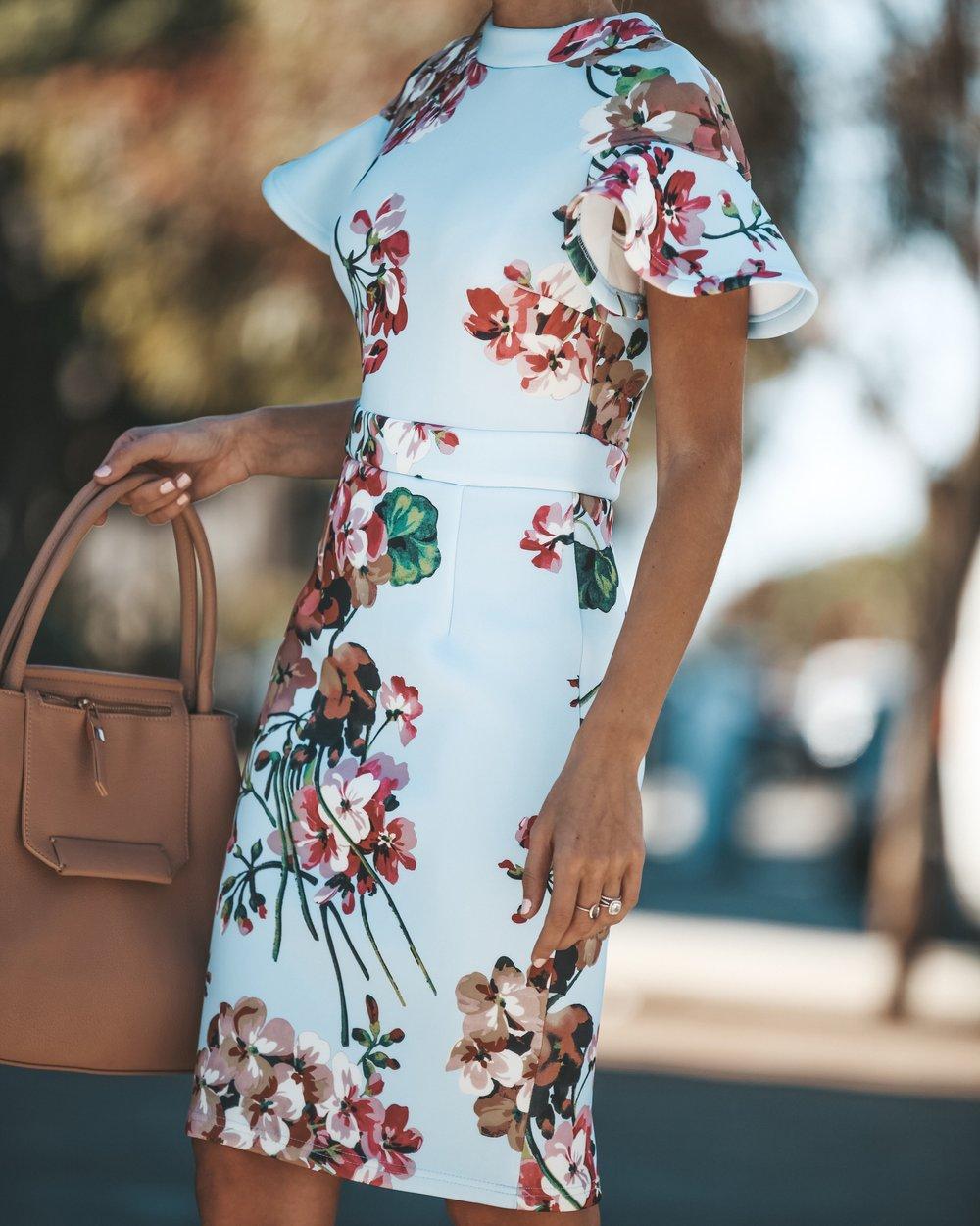 VICI COLLECTION - 'Flores Midi Dress'