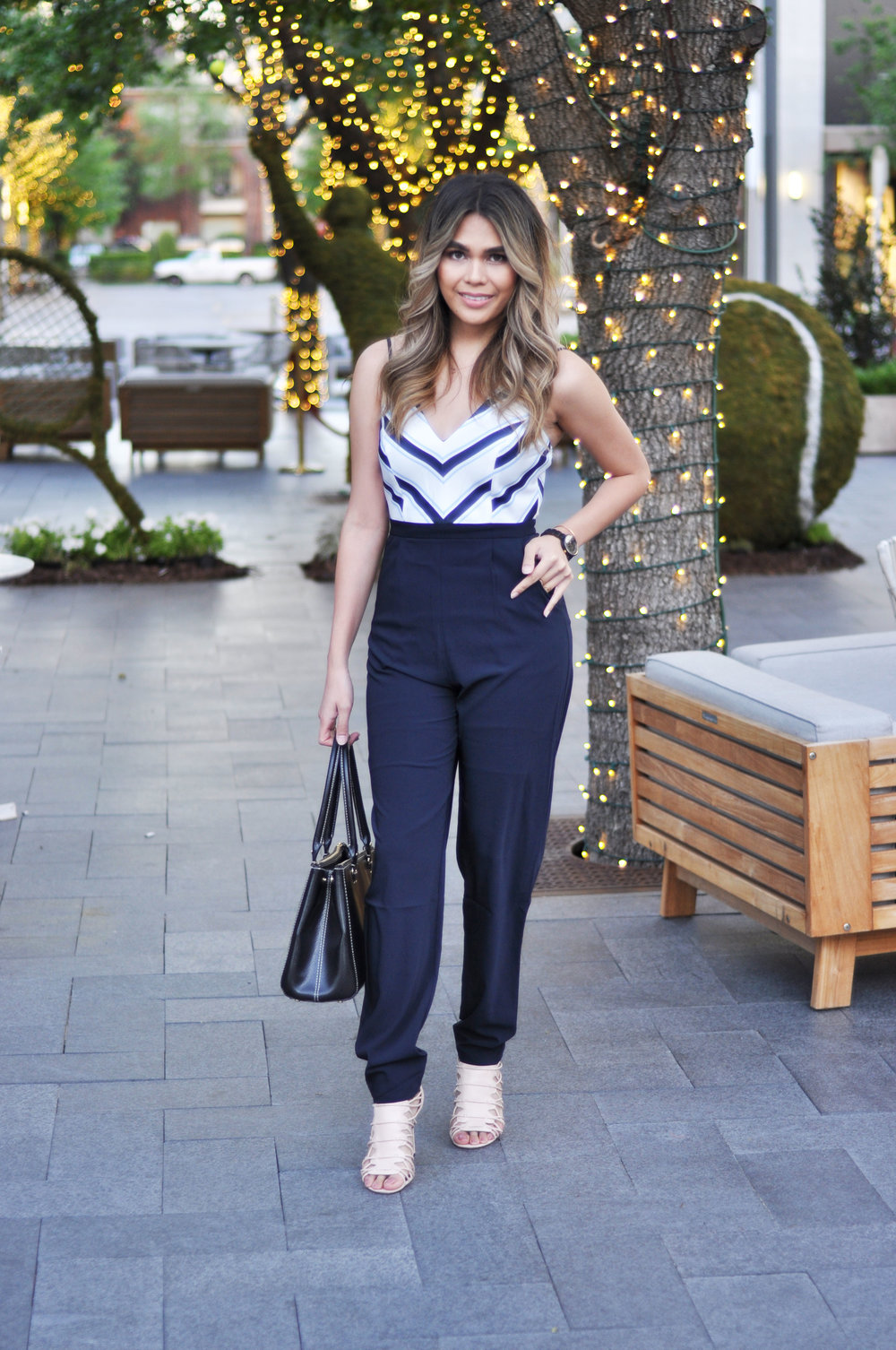 "Pippa & Pearl ""Navy Pier"" Double Strap Jumpsuit"
