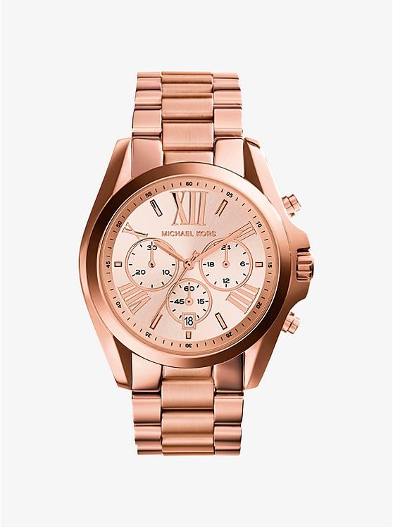 MICHAEL KORS - Oversized Bradshaw Rose Gold-Tone Watch