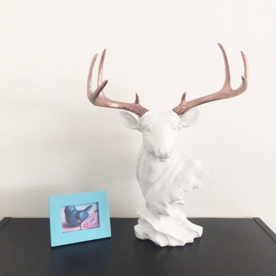 Etsy Deer Head Bust Statue