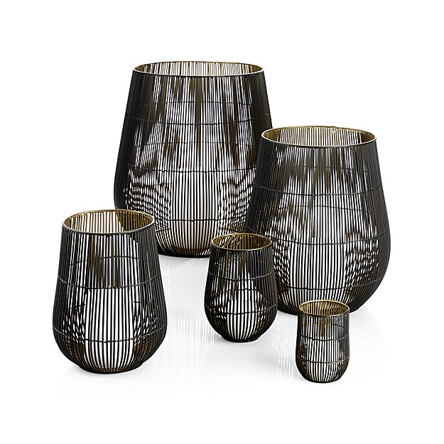 Crate and Barrel Kent Wire Candle Holders