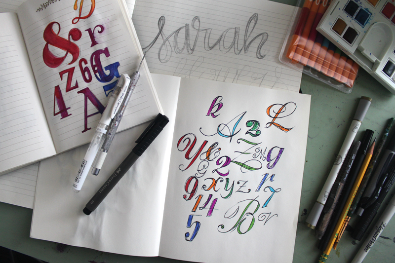 As a birthday present to myself I also got a subscription to  Uppercase Magazine , and I've been obsessed with rainbows ever since! Lately I've been favoring watercolors but pens will also do the trick.