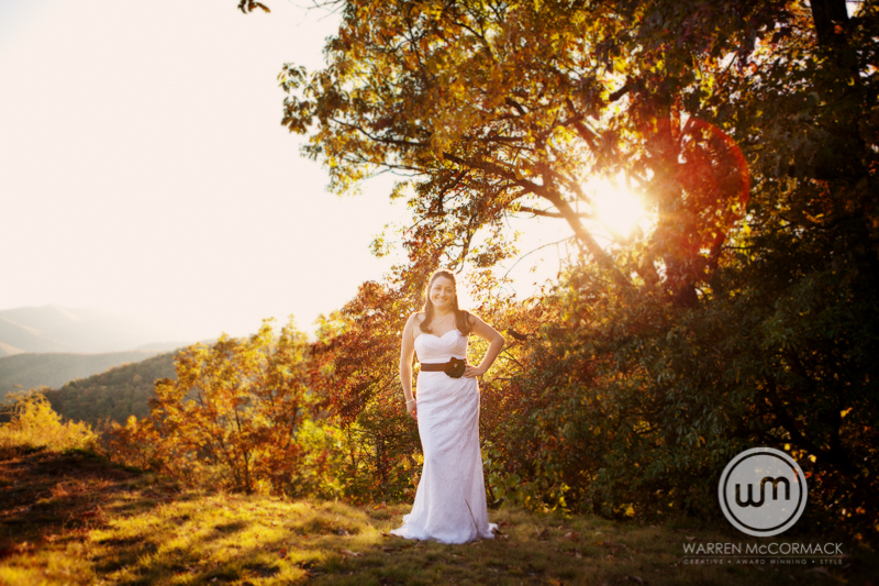 Ashley and Alan, Asheville Bridal Photography, Warren McCormack Photography