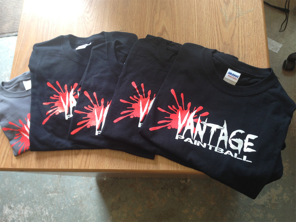 Vantage Paintball Tees