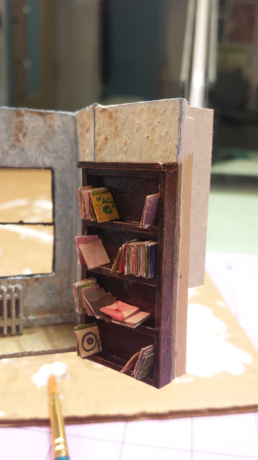 Drowsy Chaperone : Model Bookcase Designed By: Michael Harbeck  I made the model bookcase.