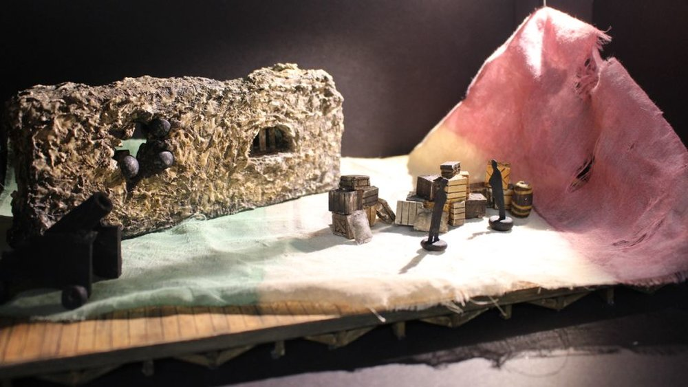 """Romeo and Juliet : 1/4"""" Scale Model, Theoretical Design, UNCSA, 2017"""