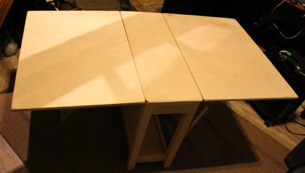 "Gateleg Table: Poplar Wood,  76""x 34""x 30"""