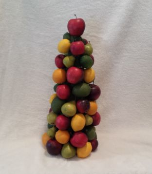 The Sorcerer : Fruit Pyramid, Gilbert and Sullivan Society of Houston, 2014  Made 2 20-inch traditional fruit pyramids for the banquet table.