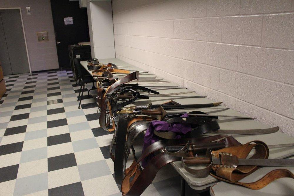 Pirates of Penzance : Sword Prop Table