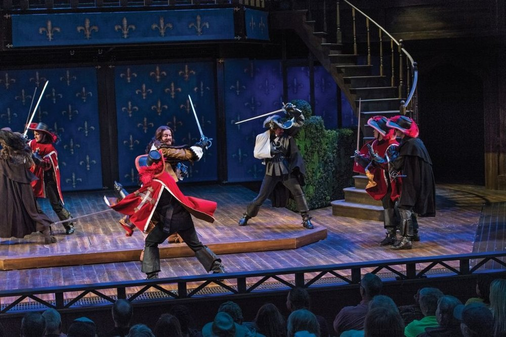 The Three Musketeers : Fleur-de-lis Hedge (in production), Utah Shakespeare Festival, 2016  (Photo by Karl Hugh. Copyright Utah Shakespeare Festival 2016.)