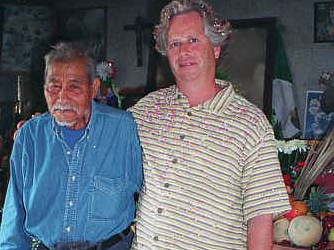 Peter with don Lucio Campos de Elizade in his consultorio in 2005