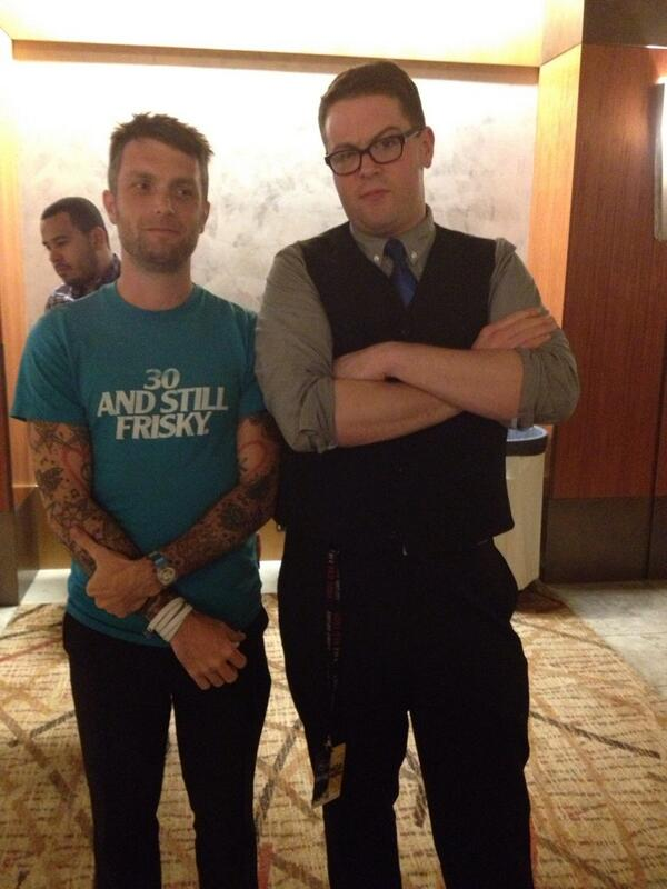 Me and Greg Miller from IGN post Sucker Punch  Infamous: Second Son panel.