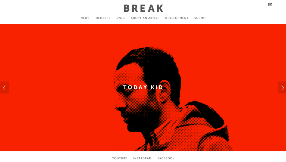 Site:  B  reak   Designed by:  Break   What we did:  Custom CSS - JavaScript