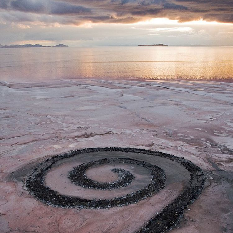 photo of Robert Smithson's Spiral Jetty by Jeffrey Kosky