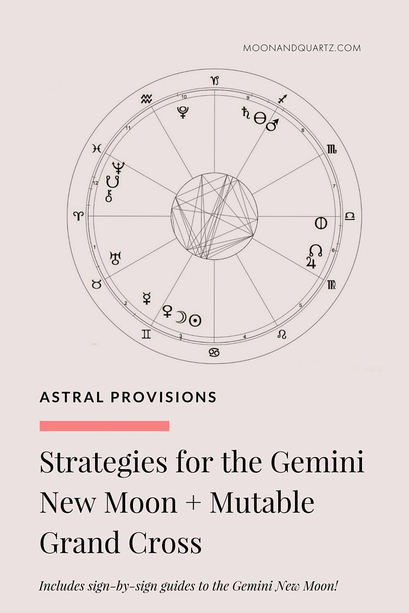 The New Moon in Gemini is exact at 7:59pm Pacific — and it's a big one. Download The Moon Guide for direction in creating the most powerful New Moon intentions for your sign!