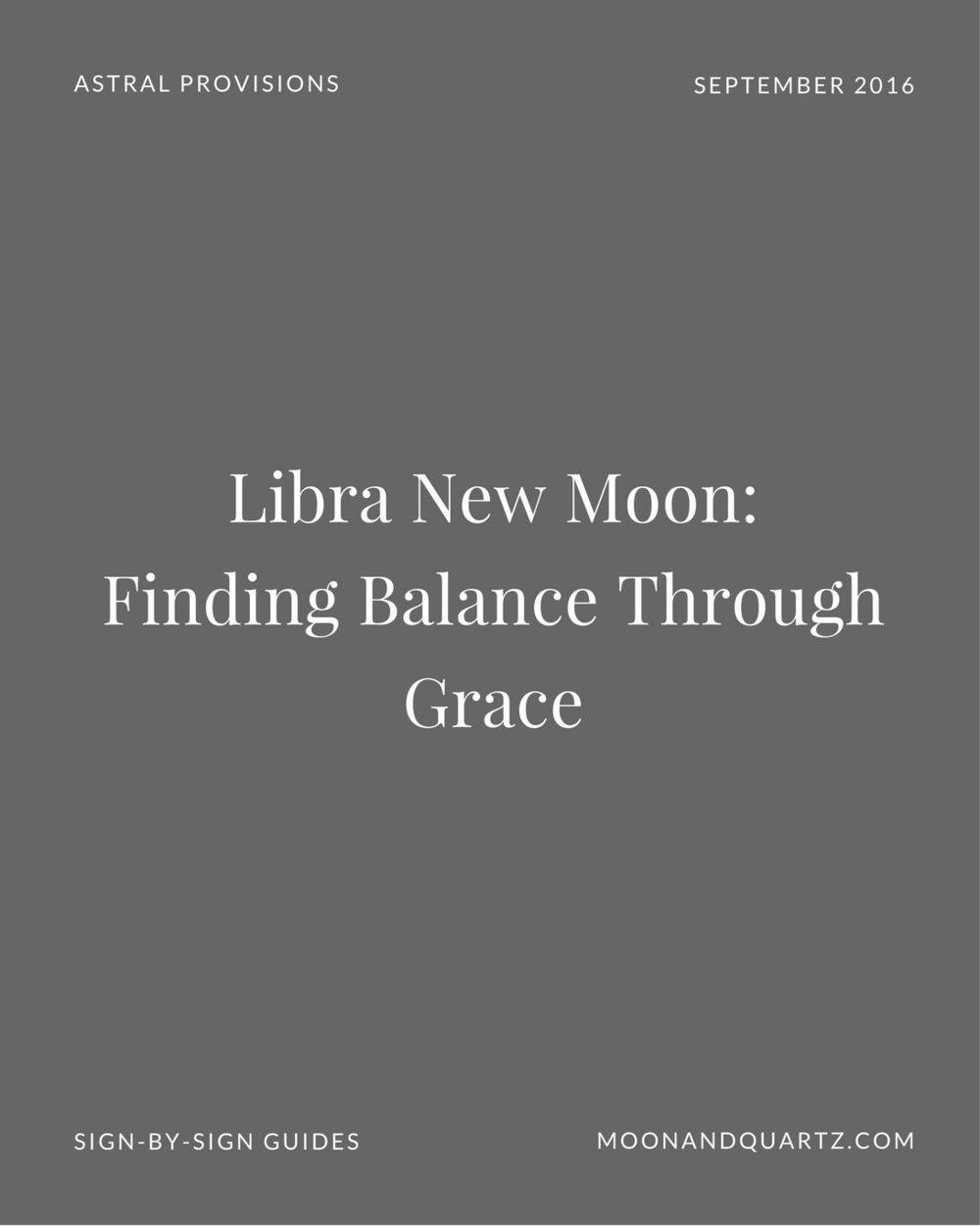 The Libra New Moon is an opportunity bring balance into our lives, particularly in the realm of our relationships. The Moon Guides are live with sign-by-sign guidance for each of the twelve signs with insight intended to help you laser-target your intentions for maximum potency: click through to download the guides for your sun and rising signs and grab all the details on the Libra New Moon!