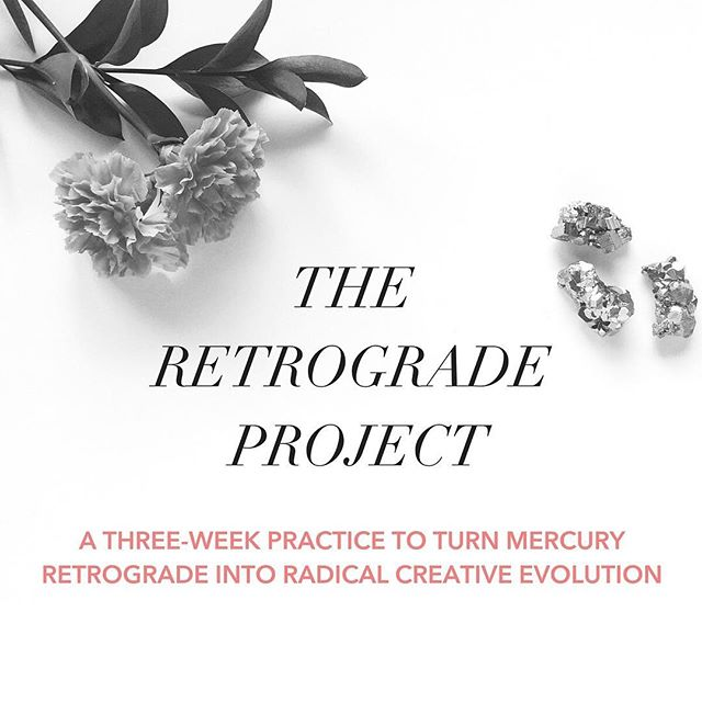 mercury stations retrograde today...which means the retrograde project is now OPEN for enrollment! 🎉with mercury retrograde in capricorn, the next three weeks are all about whether we're contributing to the world the best expression of who we truly are — and fighting our way free of the stories and false beliefs that get in the way of that offering.⠀ ⠀ if you've been around here a while, you know that I think mercury retrograde phases are some of the most magical and powerful opportunities we have available to create conscious change in our lives. the retrograde project uses this powerful energy to dismantle negative stories and self-talk so that we can create new, more empowering narratives to take their place.⠀ ⠀ it's about seeking truth — and with mercury stationing retrograde today only one degree away from pluto, it's almost as though we come //thisclose// to grasping it —deeper truth that will transform us, that we see has the potential to set us free — but first we must re-trace our steps (all the way back into the late degrees of sagittarius) before we're ready to fully integrate it.⠀ ⠀ so here's the thing. with mercury in capricorn, there's no opting out of the work that lies ahead. simply put: the deeper we go, the freer we get. the retrograde project is a sign-by-sign guide that points you toward that deeper message, and offers a roadmap to the evolution you're being called to step into.⠀ ⠀ so here's to getting out of the darkness. here's to moving into the light. find out more about the retrograde project and enroll at the link in my profile!
