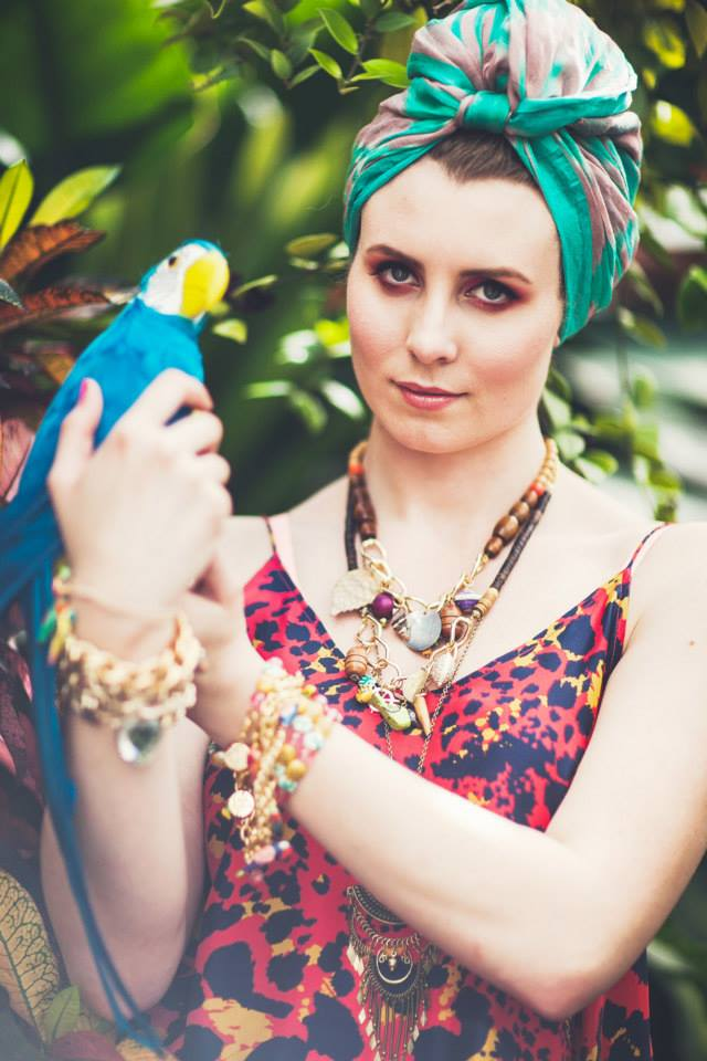 Worship Summer 2013/14 Collection by Shh By Sadie   Photography: Emily Roper @ Clipic - Photography + Video   Jewellery: Shh By Sadie   Styling - Sopheak Seng   Makeup, Hair & Nails: Kelly Manu   Model: Lauren Mann Location: Behome Parrots: Iko Iko