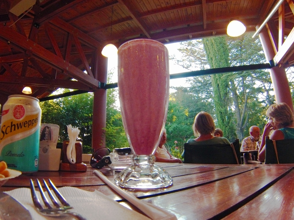 El Bosque menu pick: Batido de frutilla.  Simple, but I can confidently say this is the best strawberry smoothie you'll ever find, ever.