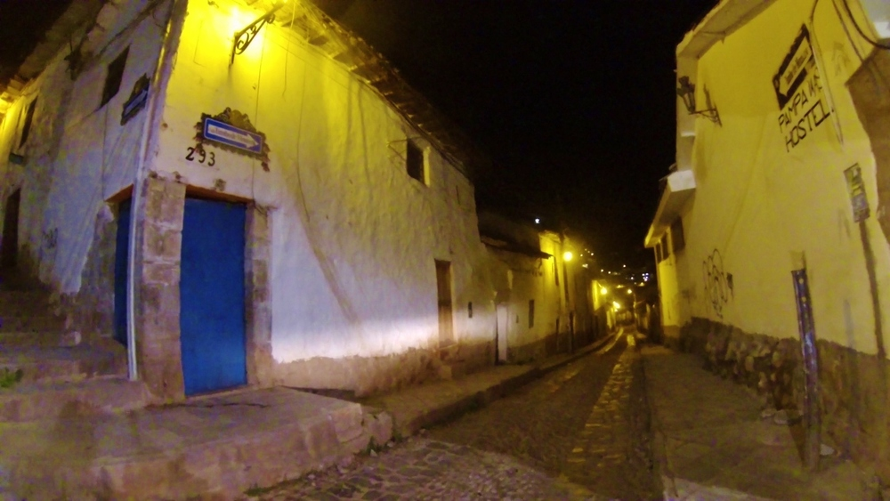 Lost in Cusco's narrow streets.  The charm wore off pretty quick.
