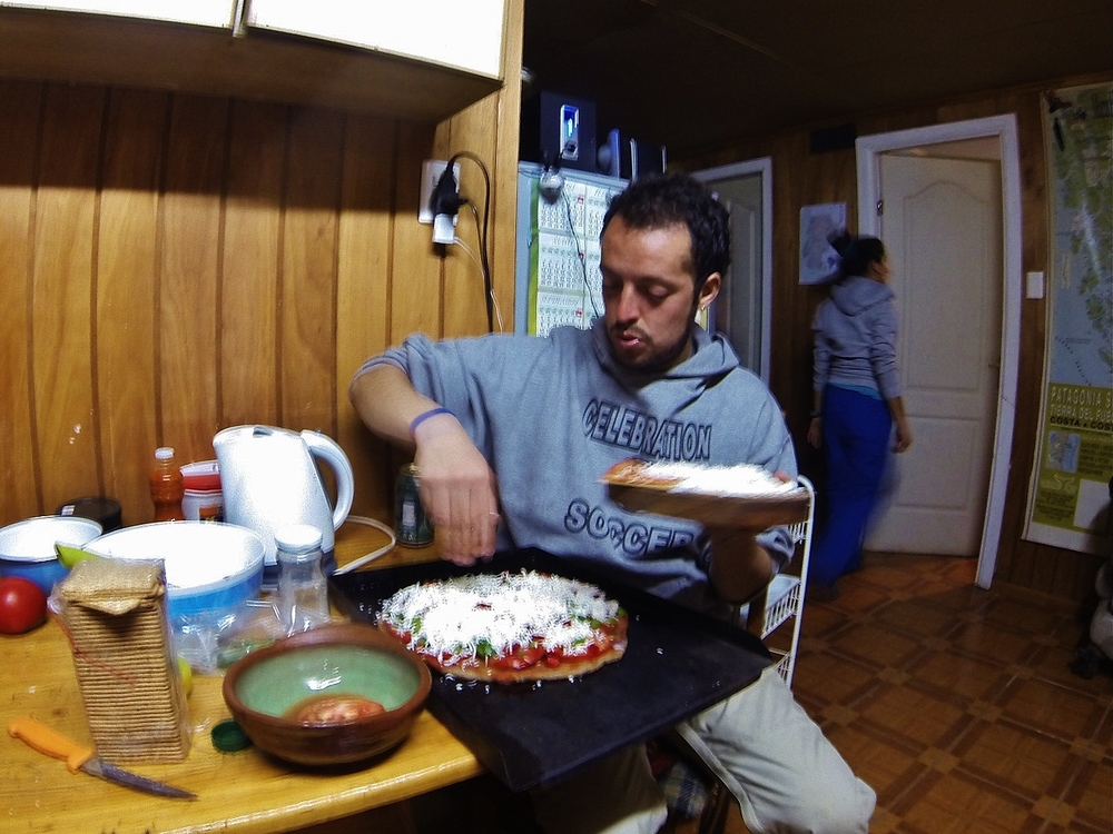 """Christóbal's """"parcho"""" (patch), as he humbly calls it, is whipping up one amazing meal"""