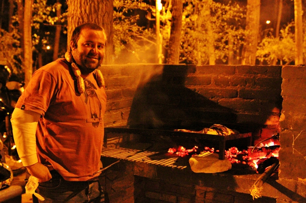 Master chef Diego, lord of the asado