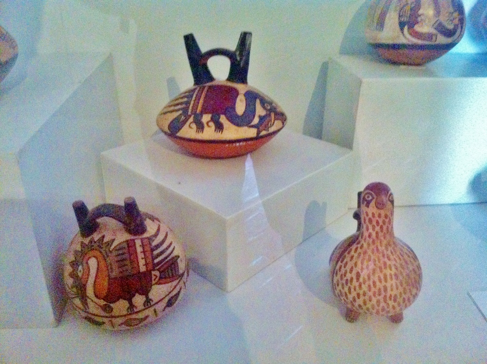 Decorative pots were elaborately shaped and painted.