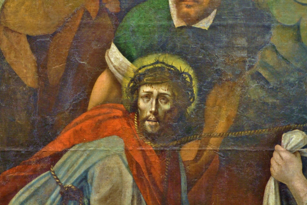 I found a painting with a particularly disturbing expression on Jesus' face