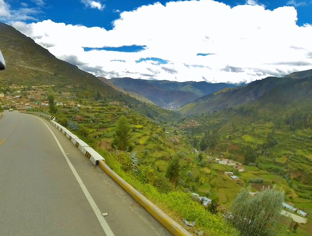 The twisty downhill road to Tarma, home of the world downhill longboarding champoinships