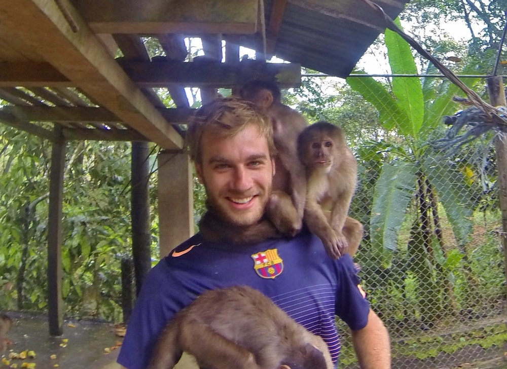 Capuchin Monkeys and El Mono Blanco