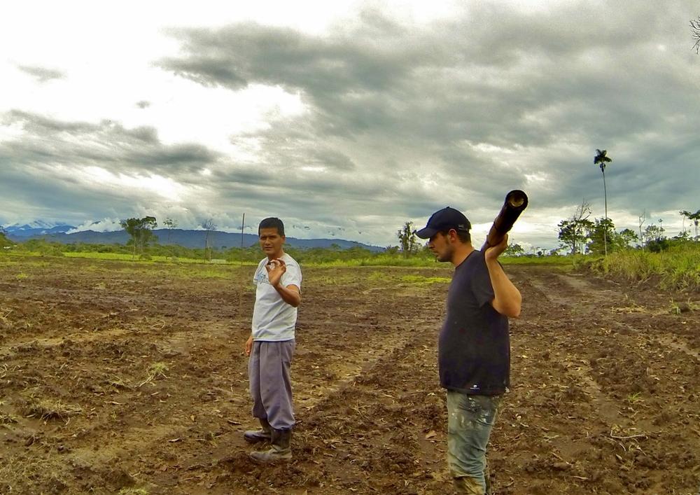 William and Tiburón on the farm