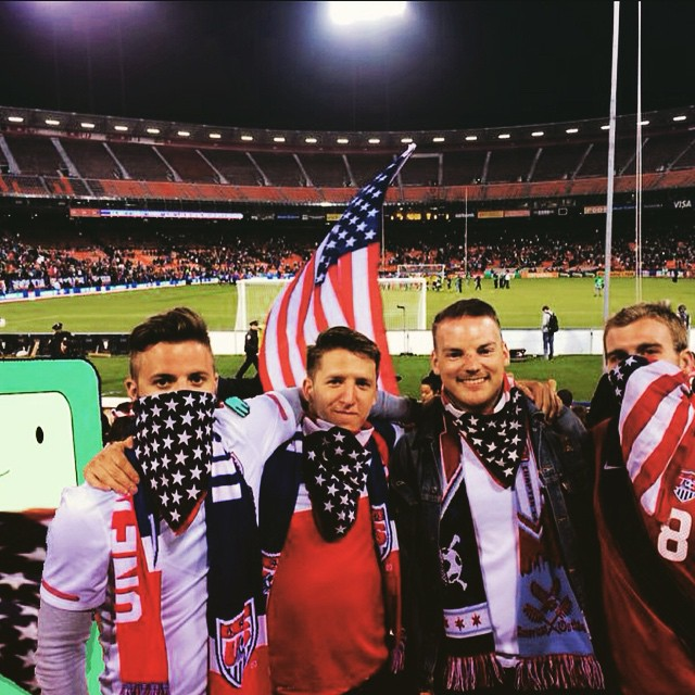 #tbt wit da squad catching #USAMNT pre-World Cup action in San Francisco.  #WorstCarlsJrEver
