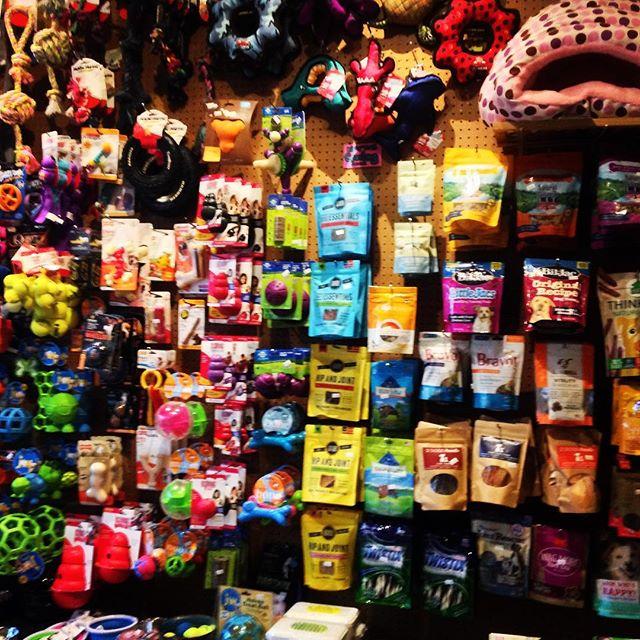 Snacks & Toys aplenty! @muddypawsny #brooklyndogs #ilovemydogs