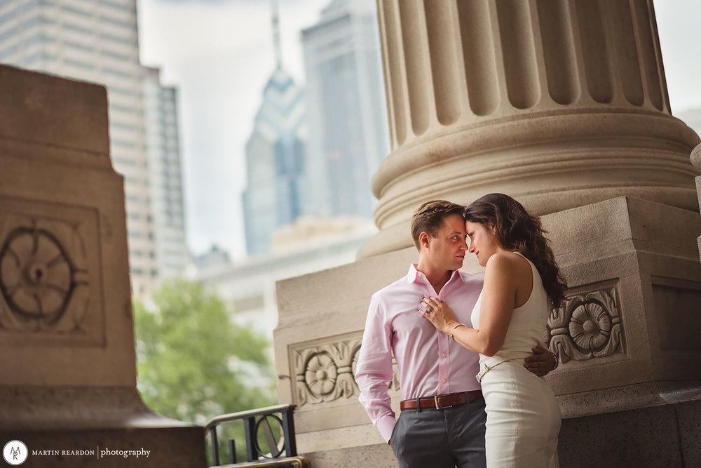 Center City Philadelphia Engagement Photographer