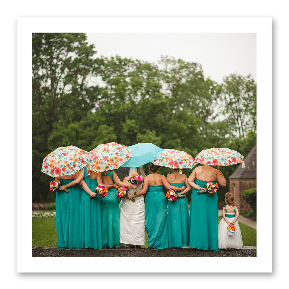 Color coordinated umbrellas